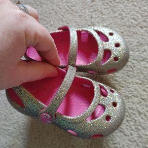 Glittery Croc Sandals